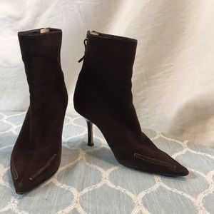 Authentic Jimmy Choo Brown Suede Ankle Booties